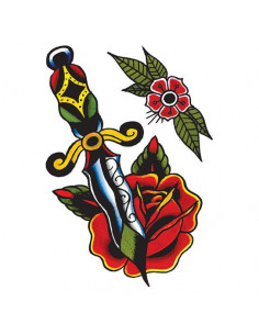 Dýka s růží a květinou -...