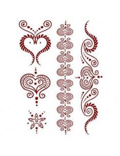 Červená srdce - henna...