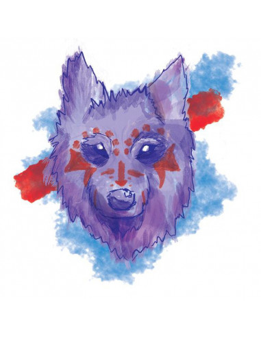 Vlk válečník - watercolor dočasné...