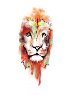Lev - watercolor nalepovací...