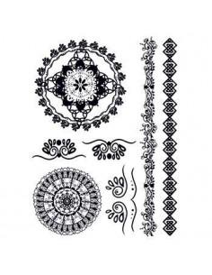 Černé mandaly - henna...