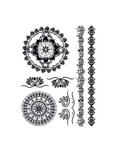 Černé mandaly - henna nalepovací...