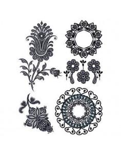 Černé květiny - henna...