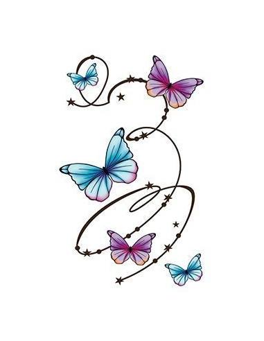 Kroužící motýli - velké nalepovací...