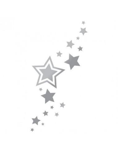 Metalické stříbrné hvězdičky -...