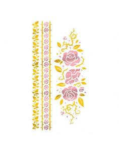 Metalické zlaté růže - sada...