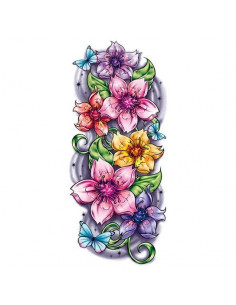 Barevné květy sakury -...