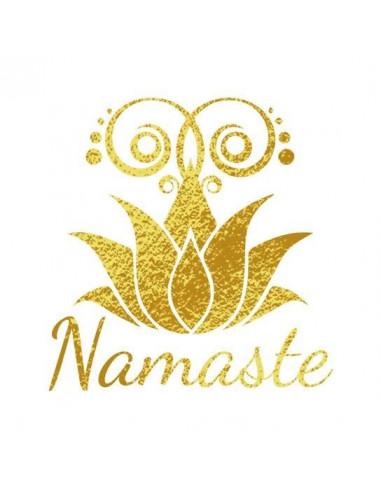 Metalický motiv Namaste - nalepovací...