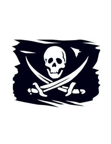 Pirátská vlajka - nalepovací tetování