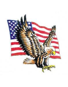 Americká vlajka s orlem -...