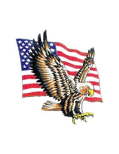 Americká vlajka s orlem - nalepovací...