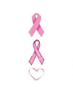Růžové stuhy a srdce -...