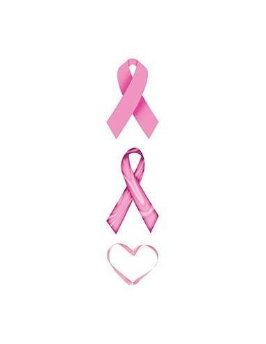 Růžové stuhy a srdce - nalepovací...