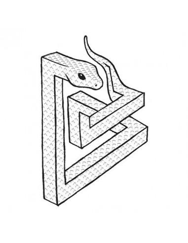 Geometrický had - nalepovací tetování