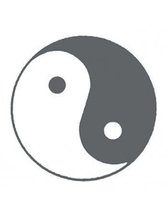 Symbol Jin a Jang svítící...