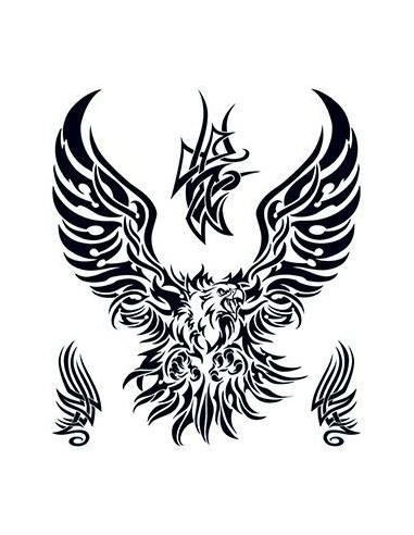 Orel - tribal velké nalepovací tetování