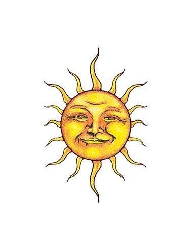 Třpytivé usměvavé slunce - nalepovací...
