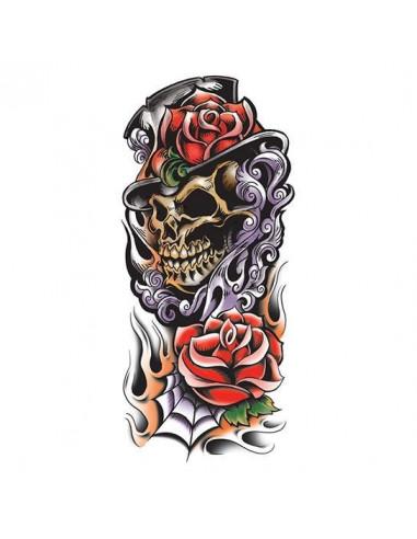 Barevná smrtka s růžemi - velké...