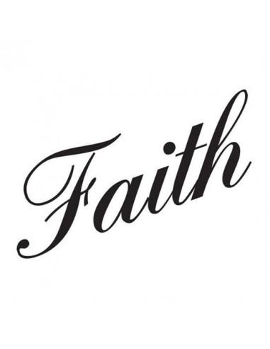 Nápis Faith - nalepovací tetování