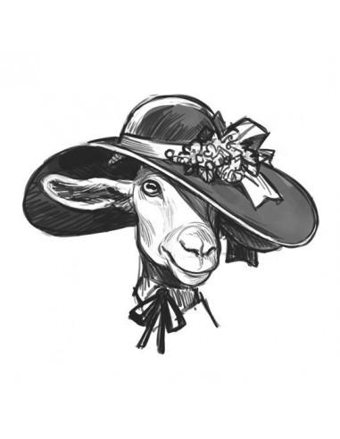 Koza v klobouku - nalepovací tetování