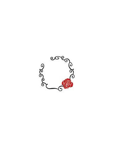 Třpytivý kruh s růží - nalepovací...
