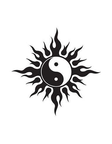 Symbol Jin a Jang - tribal nalepovací...