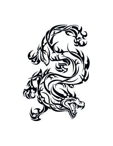 Divoký drak - tribal nalepovací tetování