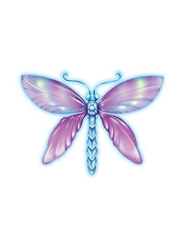 Magická vážka - nalepovací tetování