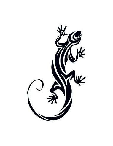 Ještěrka - tribal nalepovací tetování