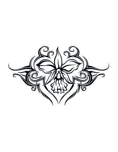 Orchidej - tribal nalepovací tetování