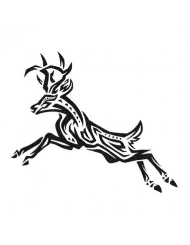 Jelen - tribal nalepovací tetování