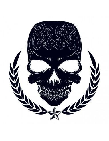 Lebka - velké tribal nalepovací tetování