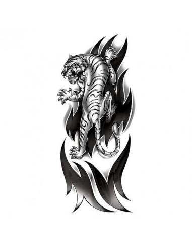 Rozzuřený tygr - velké tribal...