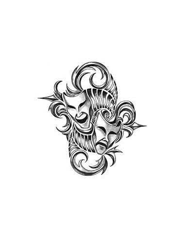 Dramatické masky - tribal nalepovací...