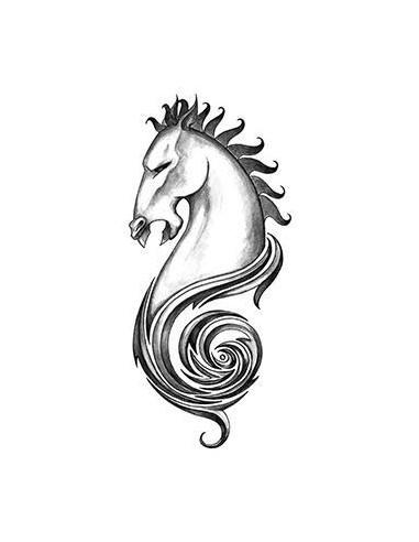 Koňská hlava - tribal nalepovací...