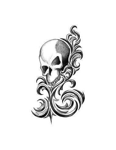Lebka - tribal nalepovací tetování