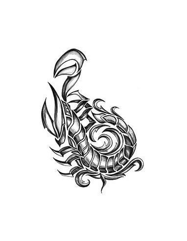 Škorpion - tribal nalepovací tetování