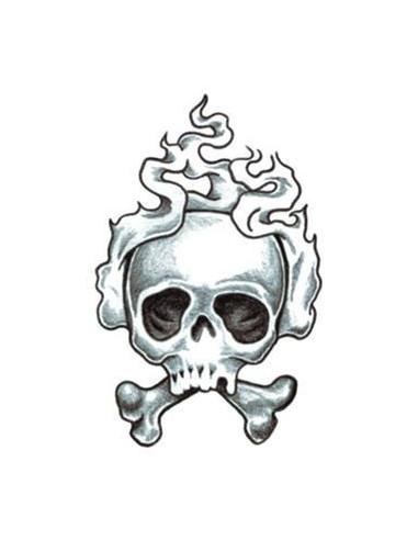 Kouřící lebka - tribal nalepovací...