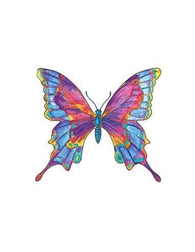 Barevný motýl - nalepovací tetování
