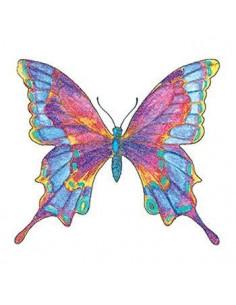 Třpytivý barevný motýl -...