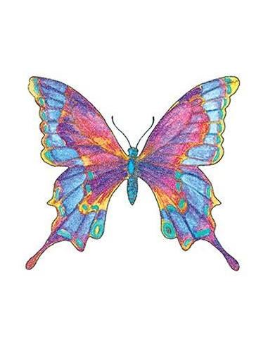 Třpytivý barevný motýl - nalepovací...
