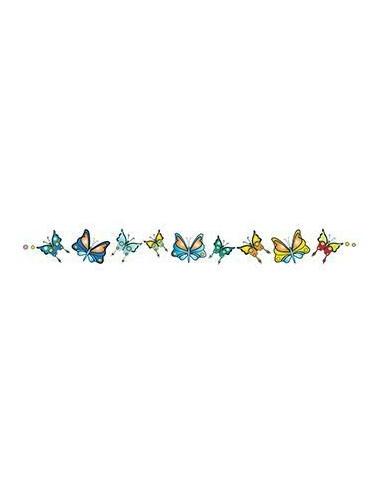 Náramek s motýlky - nalepovací tetování