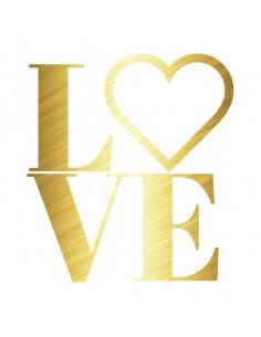 Metalický nápis LOVE -...