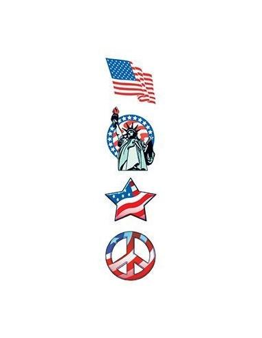 Americké symboly - nalepovací tetování
