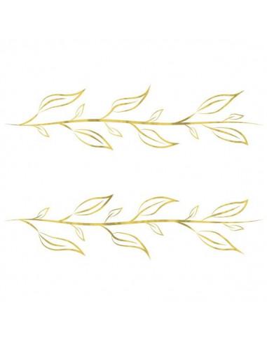 Náramek z metalických zlatých lístků...