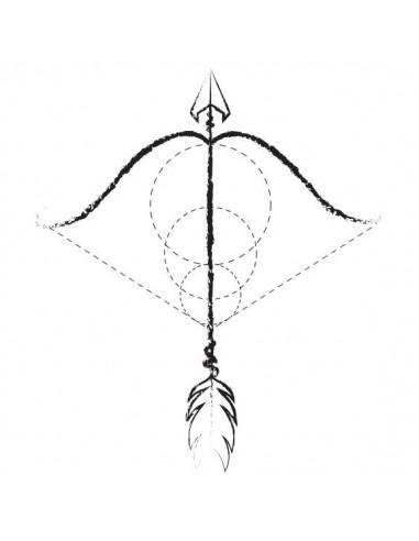 Luk a šíp - nalepovací tetování