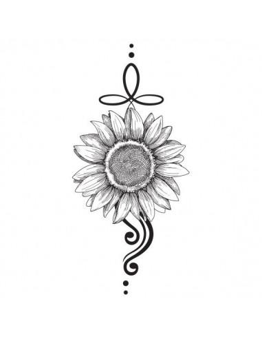 Slunečnice - nalepovací tetování