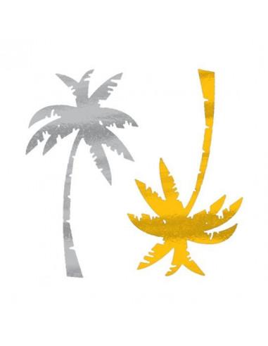 Metalické palmy - nalepovací tetování