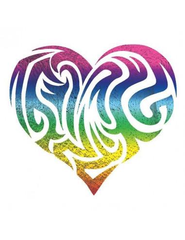 Metalické duhové srdce - nalepovací...
