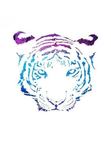 Metalický tygr - nalepovací tetování